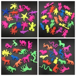 Wholesale 50g set EVA Grow Up Toy Large Size Colorful Sea Animal Wild Animal Shape Kids Favor Toy Aquarium Home Decoration
