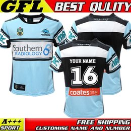 Wholesale Size S XXXL TOP Thai quality New Cronulla Sharks rugby jerseys Zealand best Australia league rugby jerseys shirts