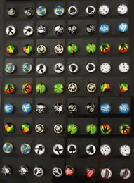 Wholesale 7mm mm acrylic logo print punk barbell fake ear plug piercing ear studs earring women anti allergic piercing body jewelry