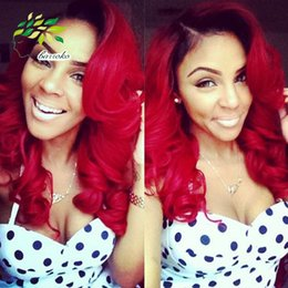 Wholesale Brazilian Ombre Short Hair Extensions body wave a Grade B Red ombre weave Human Hair Trendy Bob Hairstyles brazilian hair g