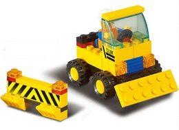 Sluban B9500 93pcs 3D construction plastic building block sets eductional bricks blocks children toys dump ruck