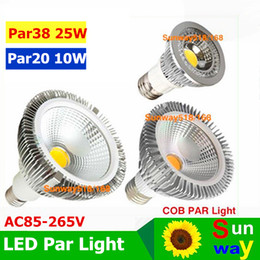 Wholesale par38 led cob light E27 E26 PAR20 PAR30 PAR38 led bulbs light w w w Dimmable V warm pure cool white led spotights