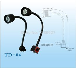Wholesale 3W V V soft rod waterproof led aluminum alloy work light Magnetic base CNC machine working tooling lamp