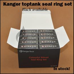 Wholesale 100 Original kanger toptank mini silicon seal ring set replacement o rings for kangertech top tank mini atomizer subtank topbox starter kit