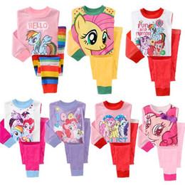 Wholesale Girls My Little PMy Little Pony Girls Pajama Set Sleepwear Children Pyjama My Little Kids Pony Clothing Sets Best Gift for Christmas