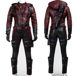 Halloween Popular Movie Performing Cosplay Party Hand-made Green Arrow Roy Harper Red Battleframe Cosplay Costume Halloween