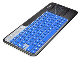 Ultra Thin silicone soft keyboard cover skin forLogitech Wireless Touch Keyboard K400 and K400r (Blue)