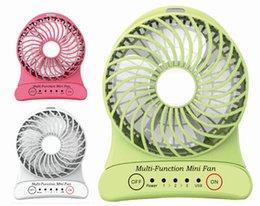 Wholesale 5V new style Portable Mini table Fan of Multi function cover3 speed Strong Wind Power USB Charger Hand lights and assembly Lithium Battery