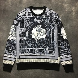 Wholesale 2016 Autumm winter clothes new European and American Palace spoof horse sweater coat plaster Portrait of men and women pullover