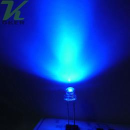 1000pcs 5mm Blue Straw Hat Ultra Bright LEDS Diode Kit led 5mm Straw Hat LED Light Diodes Free Shipping