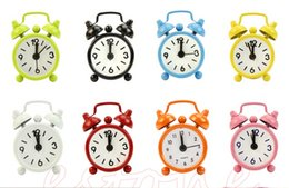 Wholesale F85 Portable Home Outdoor Lovely Cartoon Dial Number Round Desk Alarm Clock Deco Hot