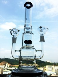 Wholesale 2016 Promotion Kb King Manufacturer mm Dual Glass Water Pipe for Dry And Wax Use with Inline Five Gear Percs Bong new Hb k25 Waterpipe