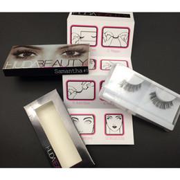 Wholesale 2016 New brand Huda Beauty False Eyelashes Messy Cross Thick Natural Fake Eye Lashes Professional Makeup Beauty Bigeye Long False Eye Lashes