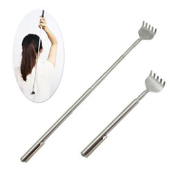Wholesale 2016 Hot Extendable Telescoping Back Scratcher Pen Pocket Clip Handy Pocket Portable Steel Body Scratch Scratcher With Pen Clip