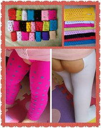 Wholesale Baby Open Files Pantyhose velvet anti mosquito tights Breathable leggings candy colors for girls boys infant colors LJJO34