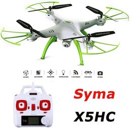 Wholesale SYMA X5HC RC Quadcopter CH GHz Axis With MP HD Camera AUTO Hovering Headless Mode RC Drone SYMA X5SC Upgraded Version