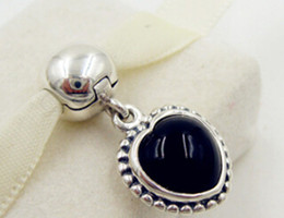 100% 925 Sterling Silver Black Onyx Pendant Clip Charm Bead Fits European Style Jewelry Bracelets & Necklaces