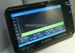 Buscador hd sathero en Línea-Comercio al por mayor 5 Sathero SH-600HD DVB-S2 Buscador de satélite digital HD Medidor con analizador de espectro LCD de 7 pulgadas