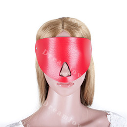 Adult-novelty Kinky Sex Bondage Leather Cover Up Blindfold Face Masks Adult Sex Game Costume Party Fun