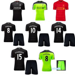Wholesale 2016 Thai quality Liverpool kit soccer Jersey is home away day GIS oh huge Gerrard suddenly ridge scrap tin ho hated son soccer j