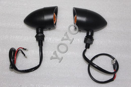 shipping Motorcycle black Rear LED Turn Signal Amber license Running Light Indicator fit For Harley