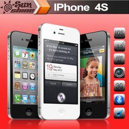 "Original Used Unlocked Apple iphone 4S Mobile phone 3.5"" Retina IPS 16GB ROM Used phone 8MP 3G WCDMA WiFi GPS IOS Multi-Language"