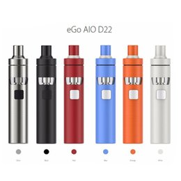 Wholesale Joyetech eGo AIO D22 XL Kit All in one System ml Capacity mah Battery Adjustment of Air Inflow Child Lock System Original