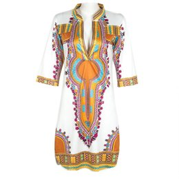 Wholesale 3XL Plus Size African Clothes Dashiki Dress for Women Casual Summer Hippie Print Dashiki Fabric Femme Boho Robe Femme