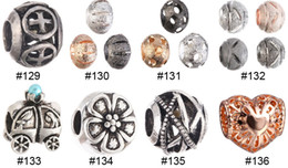 Wholesale Cheapest Price Beads Charms - Women Charms Beads For bracelet necklace Alloy big Hole Loose Beads DIY European DIY Jewelry New Arrival Cheap Price