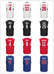 Wholesale Cheap Sale Printed Jeff Green JJ Redick Jerseys Blue Red Black White Jamal Crawford Shirt Austin Rivers Uniforms