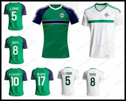 Wholesale 2016 New Northern Ireland adult soccer jerseys football shirts home away tops men de foot maillot size XXL in stock best quality