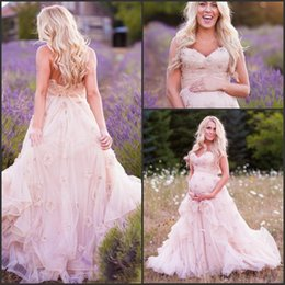 Wholesale Plus Size A line Wedding Dresses for Pregnant Women Sweetheart with D Flower Flower Tiers Tulle Baby Shower Modest Dresses Custom