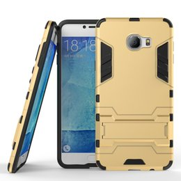 Wholesale Iron Man Case Hybrid in Armor Defender Robot Kickstand Case for Galaxy C7 amour case