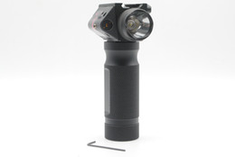 Free Shipping Tactical Foregrip Hand Grip CREE LED Flashlight Red Laser Sight Fit 20mm Rail