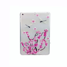 Soft Cover Tablet Computer Mini Coloured Drawing Tablet PC Cases Clear TPU Solid Print Floral Tablet PC Cases