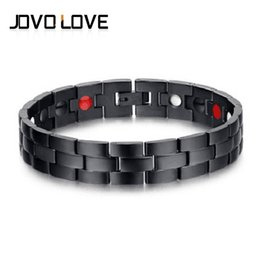 Wholesale New Europe Healing Magnetic Bracelet for Men Woman Health Care Elements Gold Bracelets IP Black Plating Promote Sleep Hand Chain