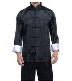 Wholesale New Best Chinese men s Dress silk kung fu suit pajamas SZ M L XL XL XL Hot Selling