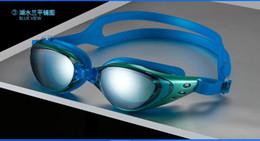 Marcos de carreras en venta-BFFA30 Anti-niebla ULTRAVIOLETA impermeable que compite con los vidrios de los anteojos de la natación de la nadada Ajustable que galvaniza los vidrios ópticos los vidrios grandes de la nadada del capítulo