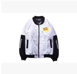 Wholesale Sell like hot cakes clothing popular logo baseball jacket Japaneseport of harajuku fashion wind restoring ancient ways bomber jackets MA1