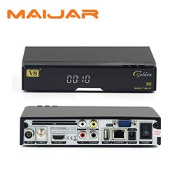 Wholesale Factory direct selling Openbox V8 Golden DVB S2 T2 C Satellite Cable Receiver IPTV Youtube DLNA SAT TO IP