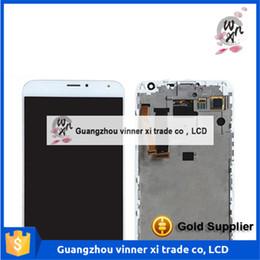 """Nouveaux écrans de téléphone en Ligne-Haute Qualité Nouveau MEIZU LCD Display + Digitizer écran tactile d'assemblage pour Meizu MX5 Smart Phone 5,5 """"1920 * 1080 noir avec cadre"""