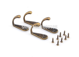 Wholesale Bronze Tone Metal coat hook bag clothes hanging Holes hook single HO18928104