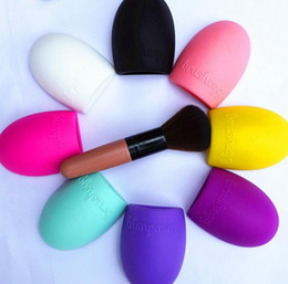 Wholesale 2016 New Design Colors Brush egg Cleaning Makeup Washing Brush Silica Glove Scrubber Board Cosmetic Clean Tools Made beauty