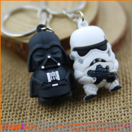 Promotion l'action de guerre Vente en gros Star War Keychain Darth Vader Storm Trooper Action Minifigure Porte-clés Star War Figurines Toy Gift Llavero