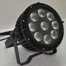 Free shipping 9X15W Silent IP65 RGBAW 5 in 1 Waterproof Stage Lighting Outdoor LED Flat Stage Lights