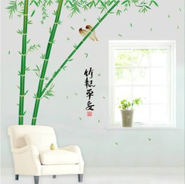 Wholesale high quality Fashion Personality DIY PVC Bamboo Removable Waterproof Living Room Background Wall Sticker