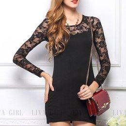 New Fashion Women Ladies Slim Fit Bodycon Dress Lace Tunic Wear Splicing Elegant Floral Pencil Dress shipping
