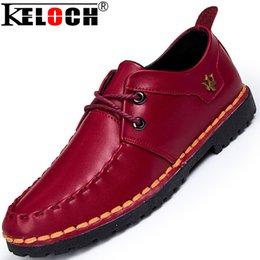 2017 los hombres hechos a mano de los zapatos oxford Keloch mayor-Hombres zapatos de cuero hechos a mano de los zapatos ocasionales Hombre Marcas Oxford pisos en los zapatos de los hombres que andan en monopatín Sapatos Masculinos los hombres hechos a mano de los zapatos oxford outlet