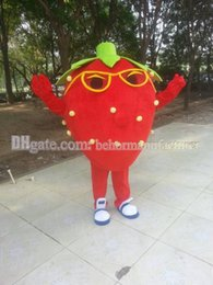 New strawberry mascot costumes, music strawberry cartoon clothing cool, party activities hottest music star strawberry suit, free shipping.