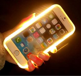 Wholesale Limited discount New Selfie Case Light Up LED Cell Phone Cases Coque for iphone iphone plus S iphone S plus etc